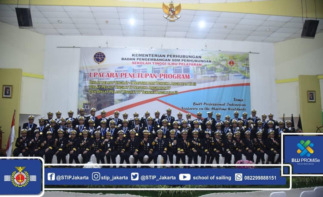 Wujudkan SDM Maritim Profesional, Kepala BPSDM Perhubungan Menutup Program Diklat Pelaut Tingkat II dan IV Jurusan Nautika dan Teknika di STIP Jakarta