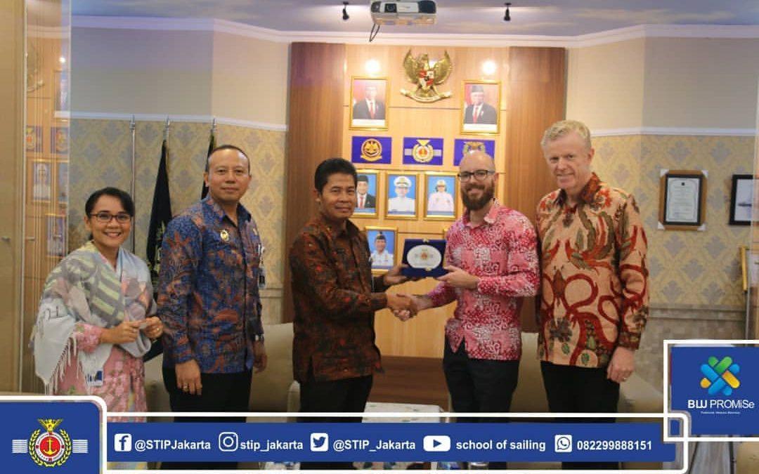 Kunjungan Tasmania University of Australia ke Sekolah Tinggi Ilmu Pelayaran Jakarta